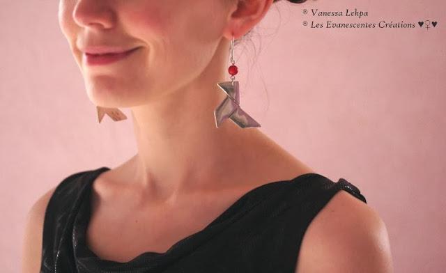 vanessa lekpa boucles d'oreille modernes en argent massif