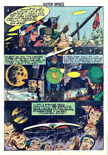 Outer Space v1 #19 charlton sci-fi comic book page art by Steve Ditko
