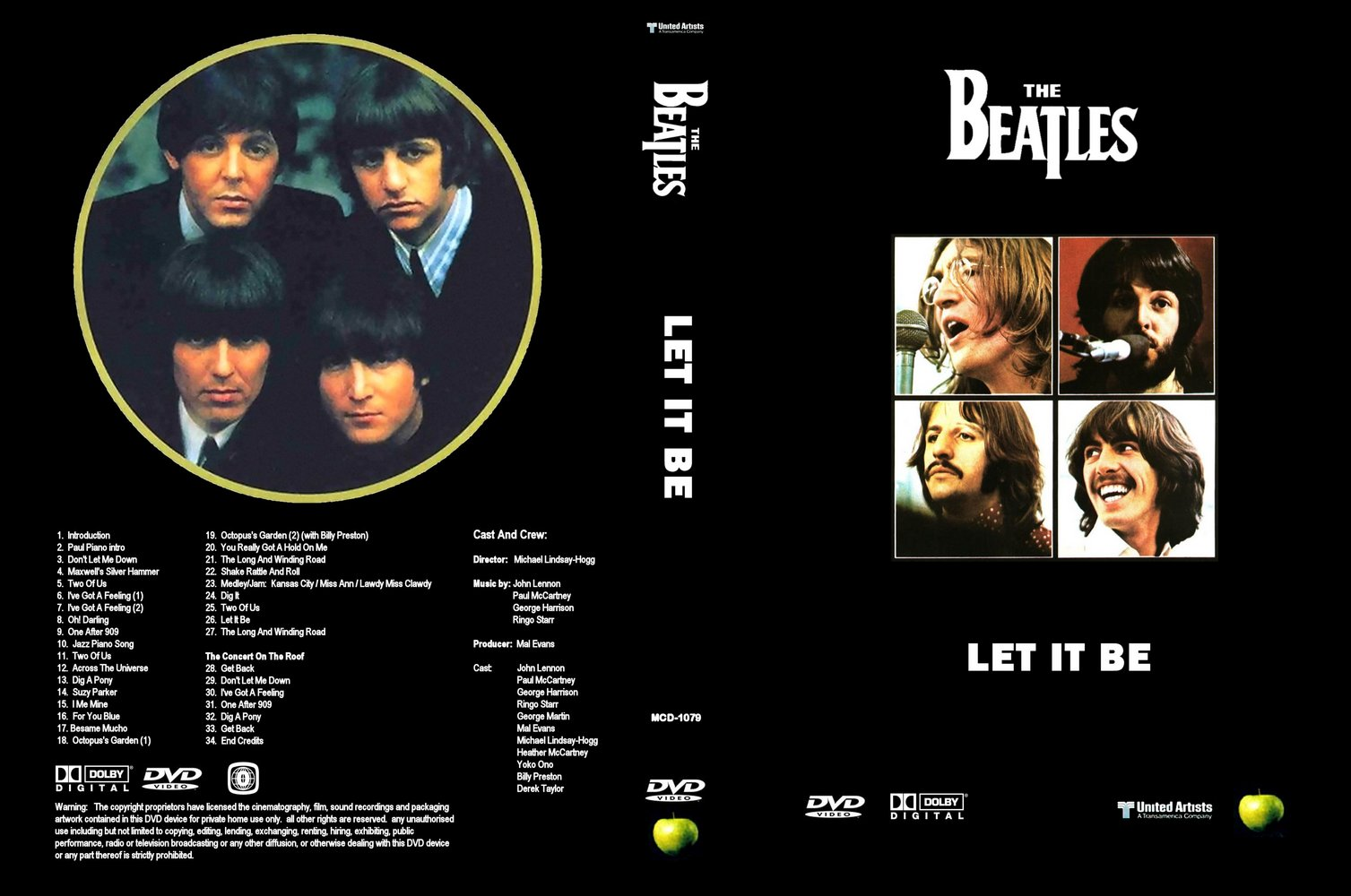 The Beatles Let it be DVD-R bea 2Bletitbe