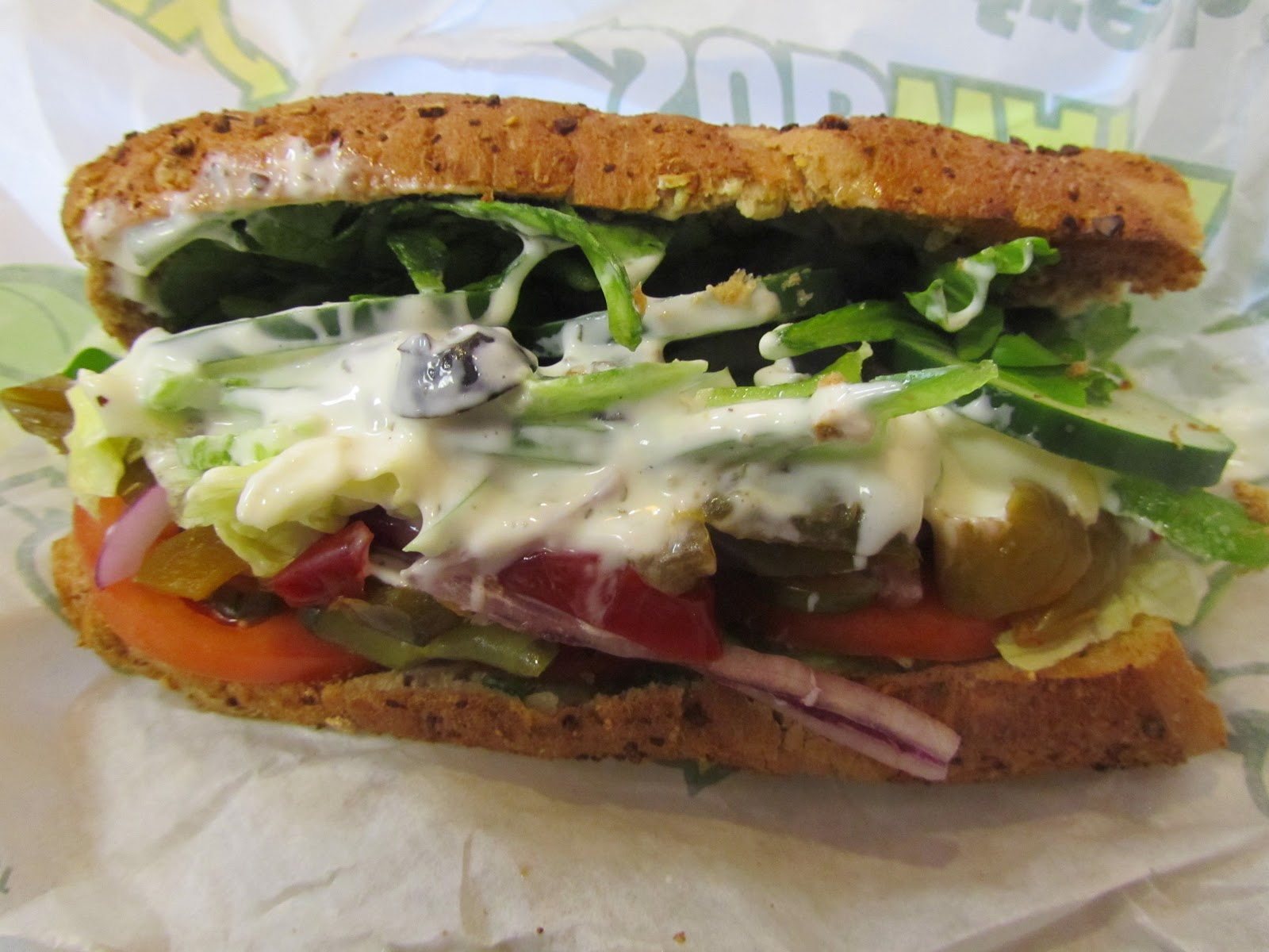 What are you hungry for? in Pittsburgh.: Subway veggie-delight