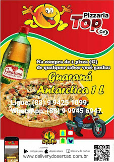 PIZZARIA TOP CE LIMOEIRO DO NORTE-CE  PEDIDOS NO WHATSAPP: (88) 99945 6947