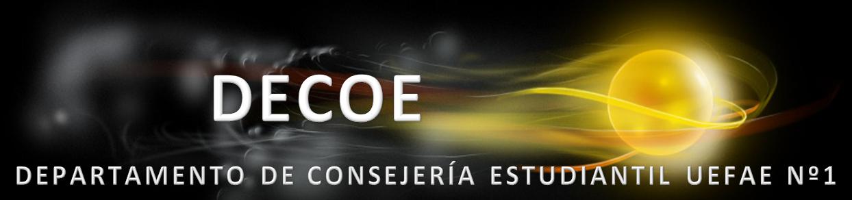 DEPARTAMENTO DE CONSEJERÍA ESTUDIANTIL UEFAE Nº1