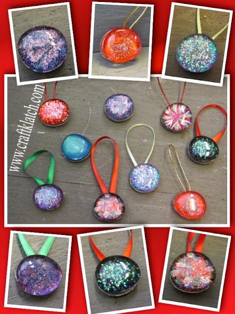 Christmas Ornaments Nail Polish : Craft klatch ? recycled nail polish stone christmas