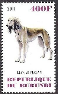 2011年ブルンジ共和国 サルーキの切手