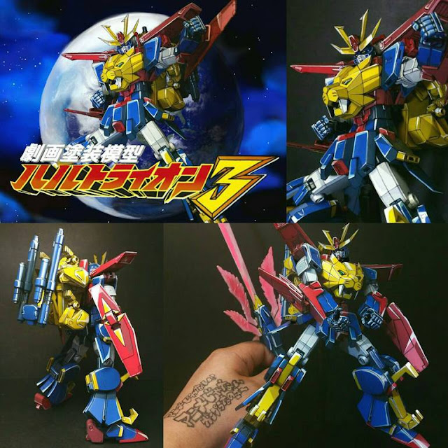 HGBF Gundam Tryon 3 Anime Colors Remodeled