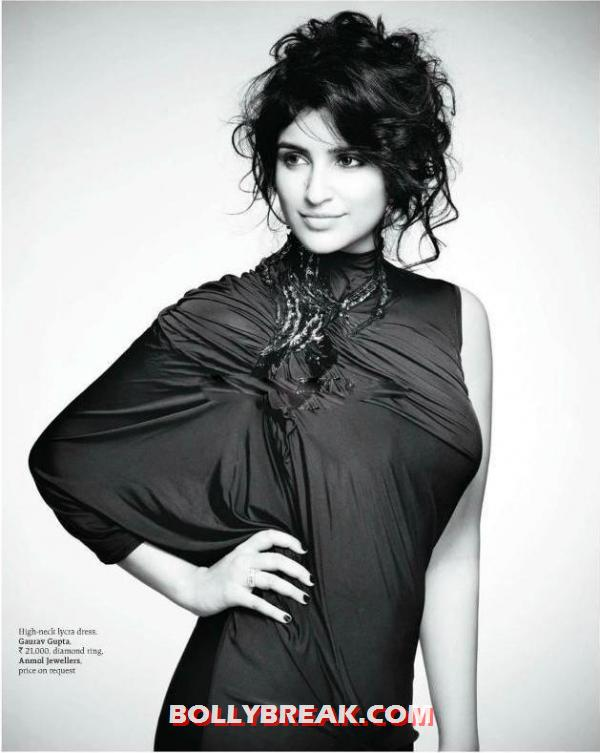 Parineeti chopra in high Neck Lycra Dress - Parineeti chopra Latest Photo - August 2012