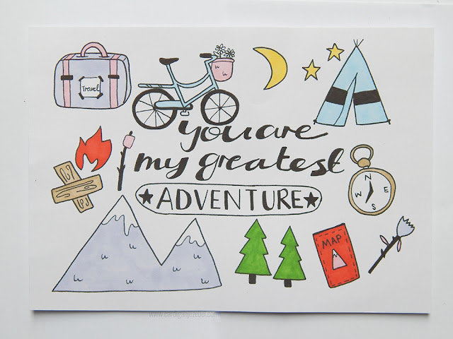 Illustration with you are my greatest adventure written on it