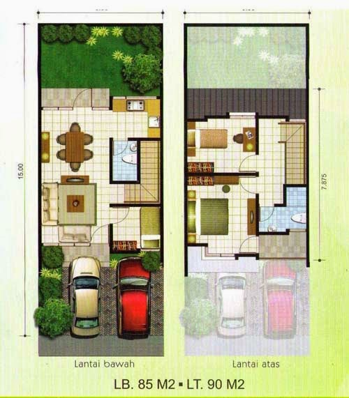 Desain Rumah Sederhana 6 X 12 Yang Nyaman