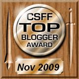 CSFF Top Blogger, November 2009
