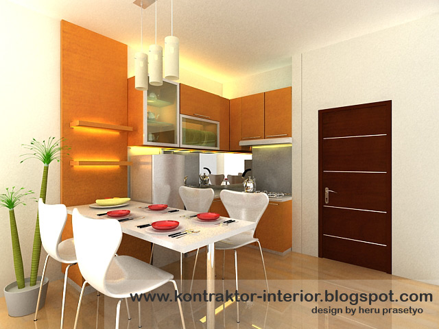Kontraktor interior rumah harga kitchen set surabaya for Harga pembuatan kitchen set per meter