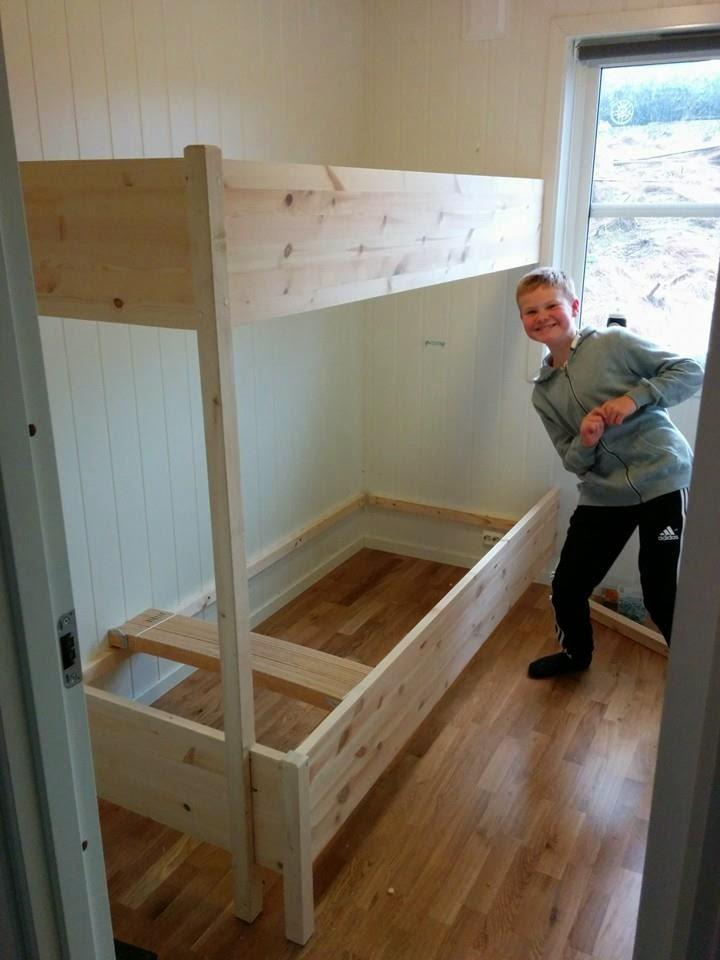 hytte og sånt: Plassbygd seng
