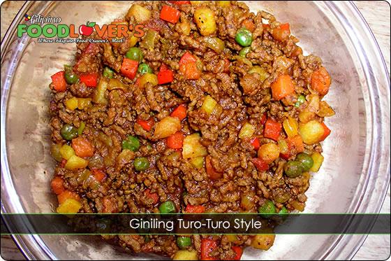 Giniling Turo-Turo Style