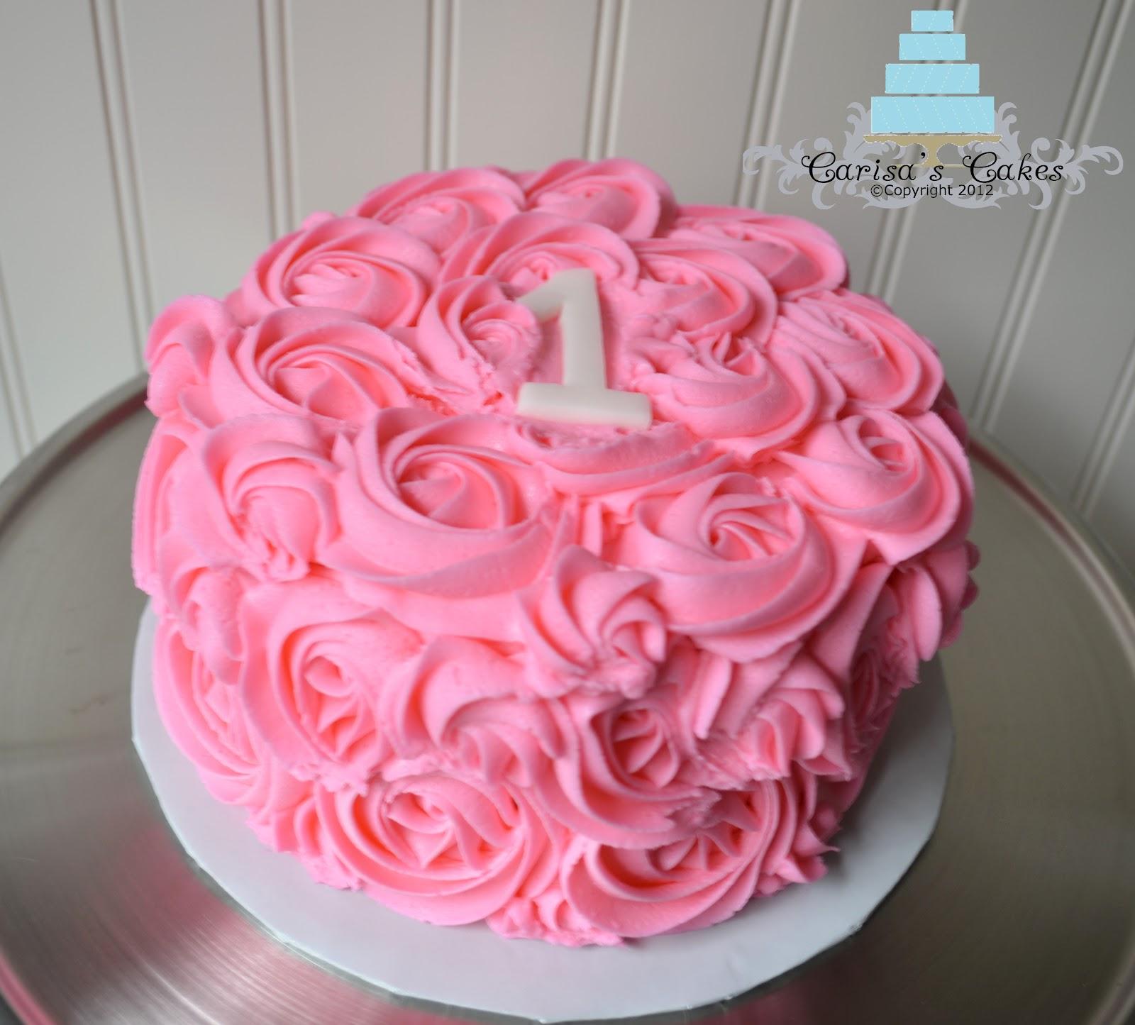 Carisa s Cakes: Rose Swirl Smash Cake #3