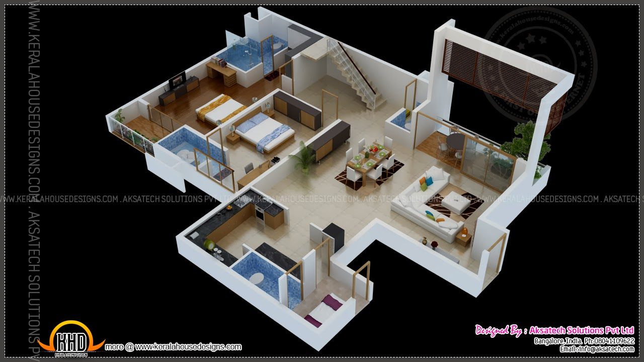 Isometric drawings 3d by aksatech kerala home design and for Home designs drawings