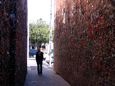 Bubble Gum Alley, San Luis Obispo, CA: www.thebrighterwriter.blogspot.com #California