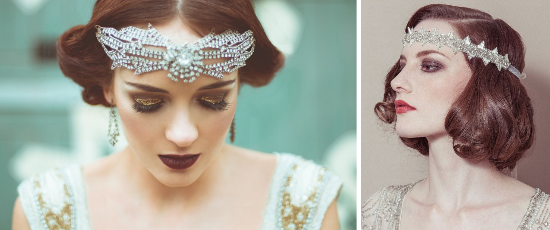 onde anni '20, finger waves, vintage bride