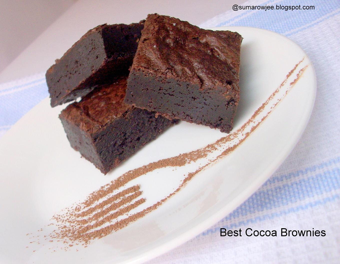 Cakes And More!: Best Cocoa Brownies