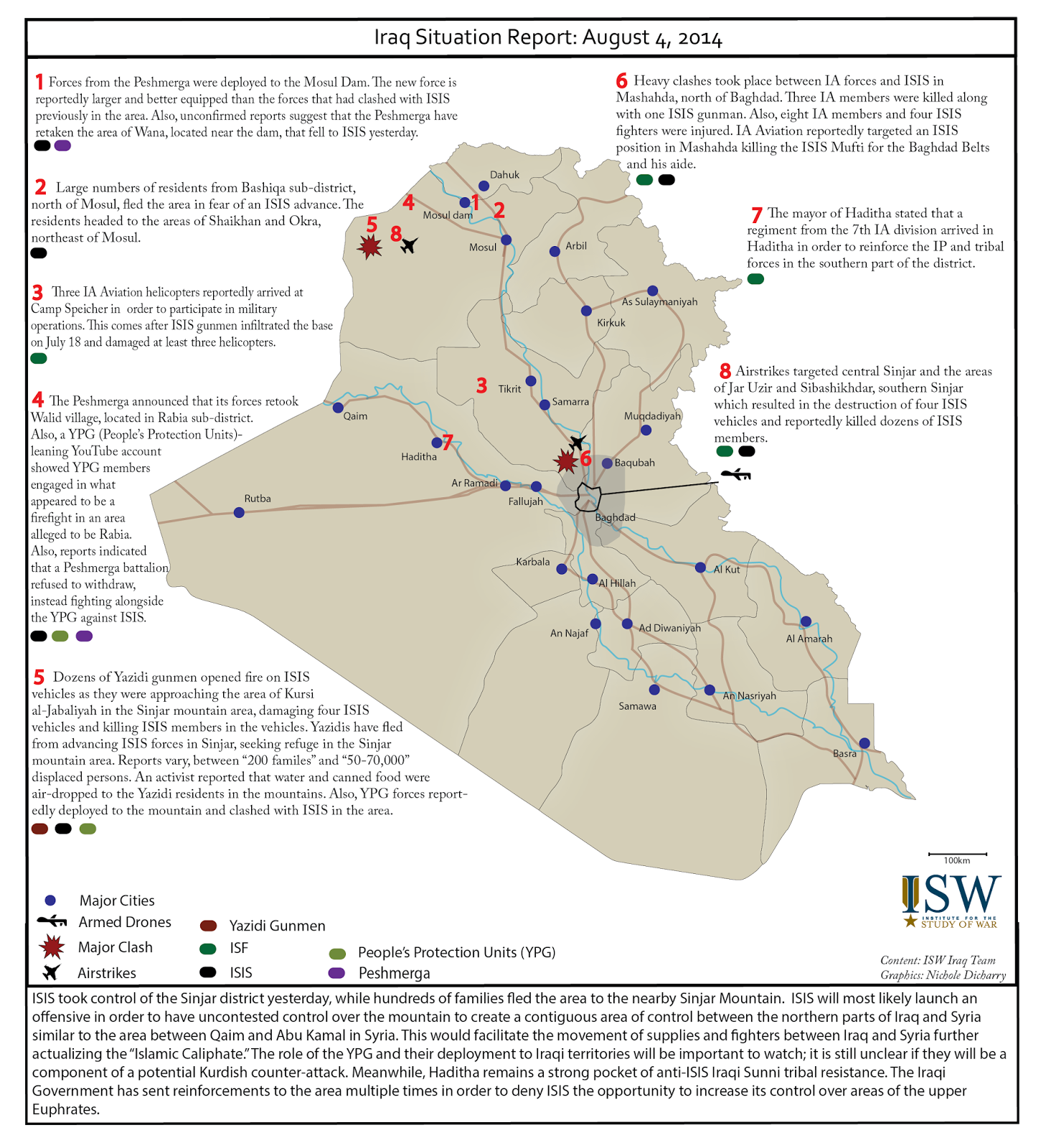 ISW Blog Iraq Situation Report August 4 2014 – Situation Report