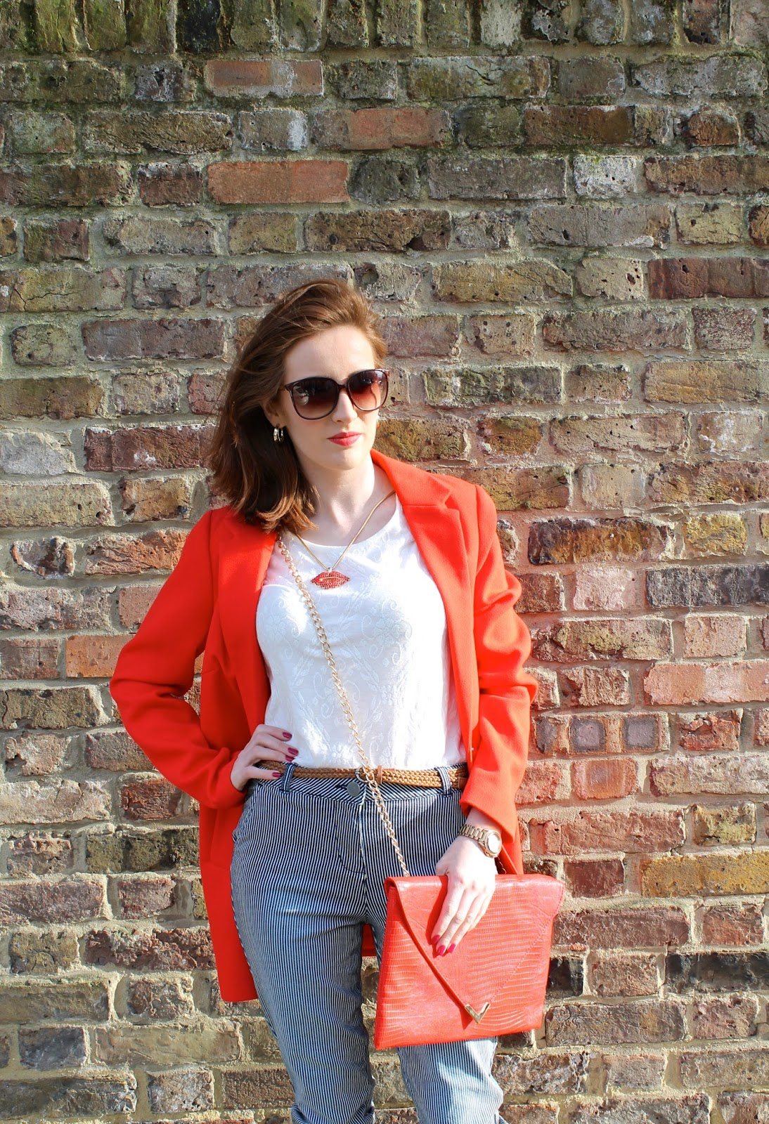 outfit post red duster coat