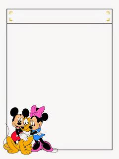 Caratulas para Niños mickey, Minnie y Pluto - FRAME BORDER MICKEY