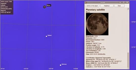 Lihat Dekatnya Bulan, Merkurius dan Saturnus di Akhir Pekan