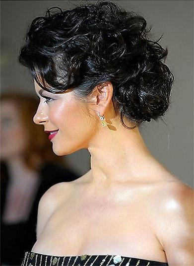 Messy Bun Hairstyles 2012