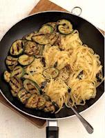 Grilled Eggplant and Zuchiru Pasta