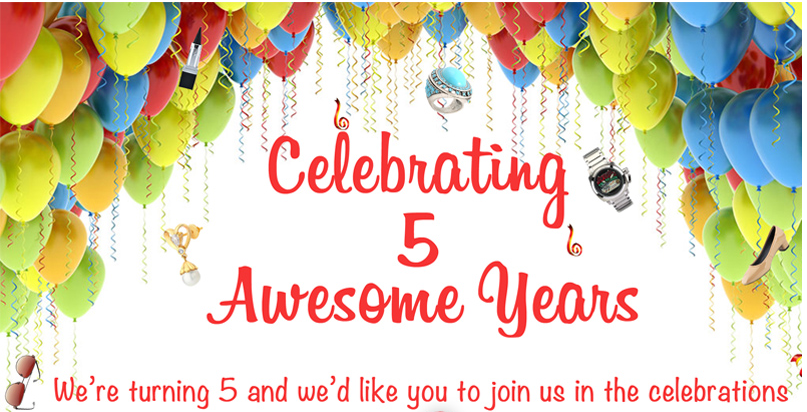 Contest Awesome Birthday Wish 5th Year Anniversary Win Gift HomeShop18 Free Samples