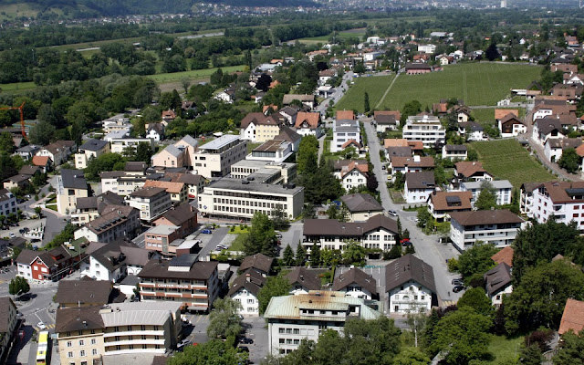 View of Vaduz in Liechtenstein