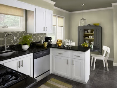 wall paint colors for kitchens with white cabinets