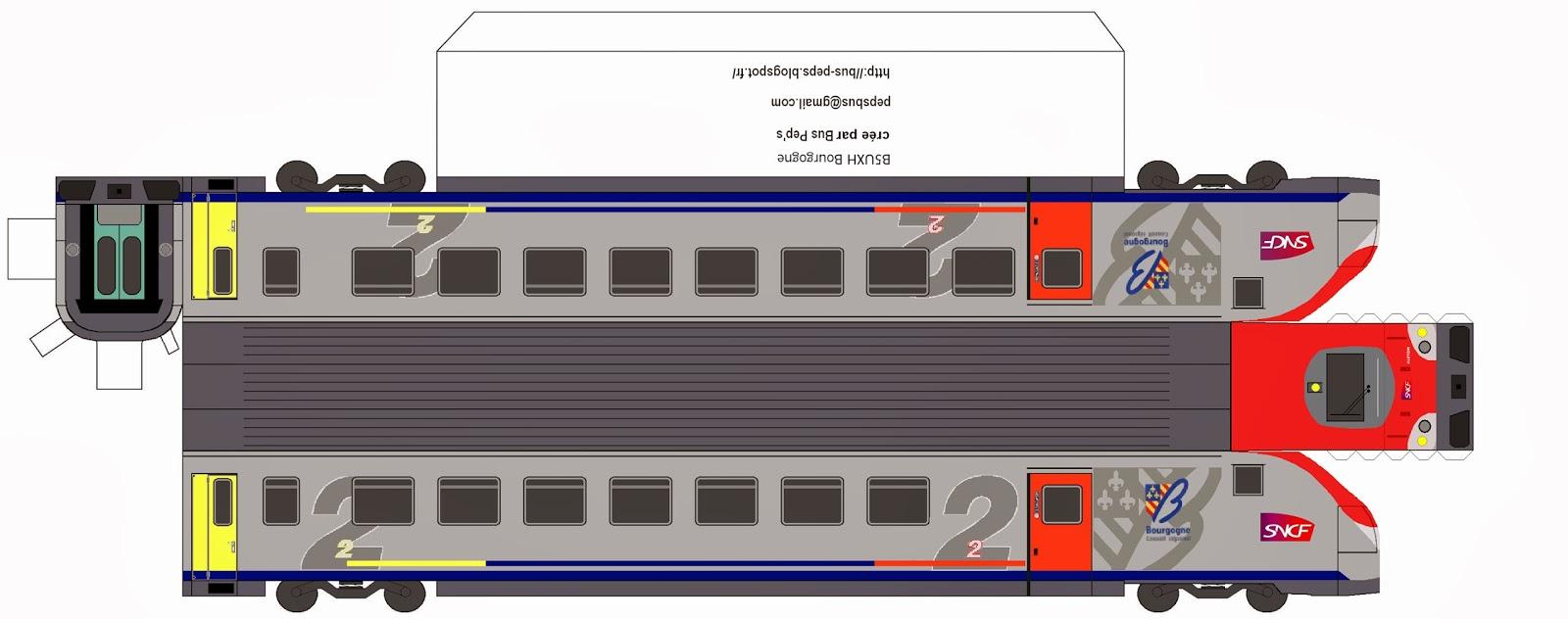 Maquette papier b5uxh - Comment dessiner un train ...