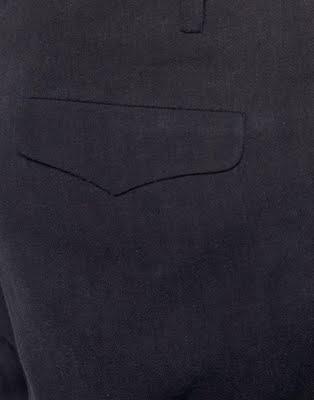 Pleated Fold Drop Crotch Trousers