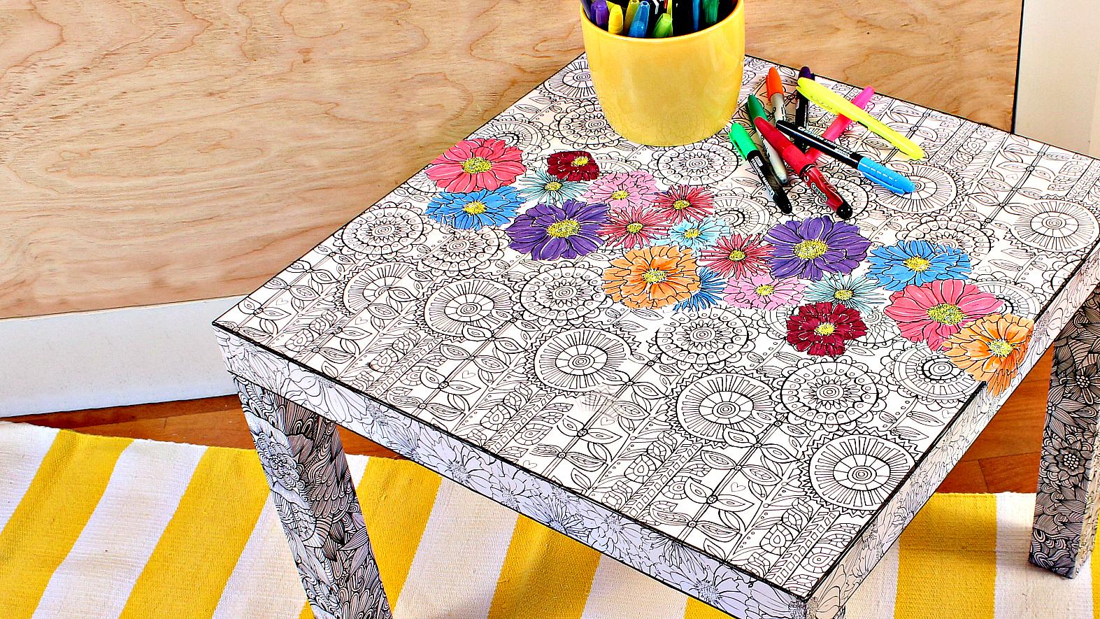 Adult Coloring Book Ikea Hack
