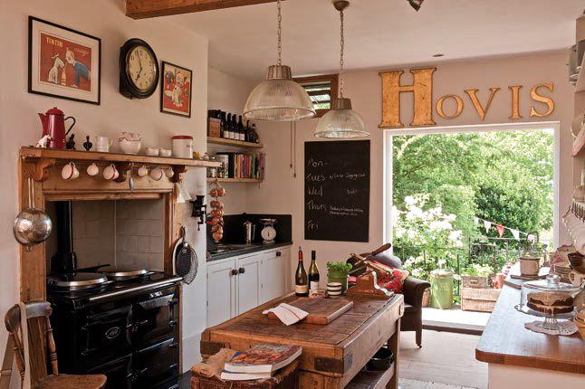 La belleza de las cosas cocinas campestres for Foto di cucina inglese cottage