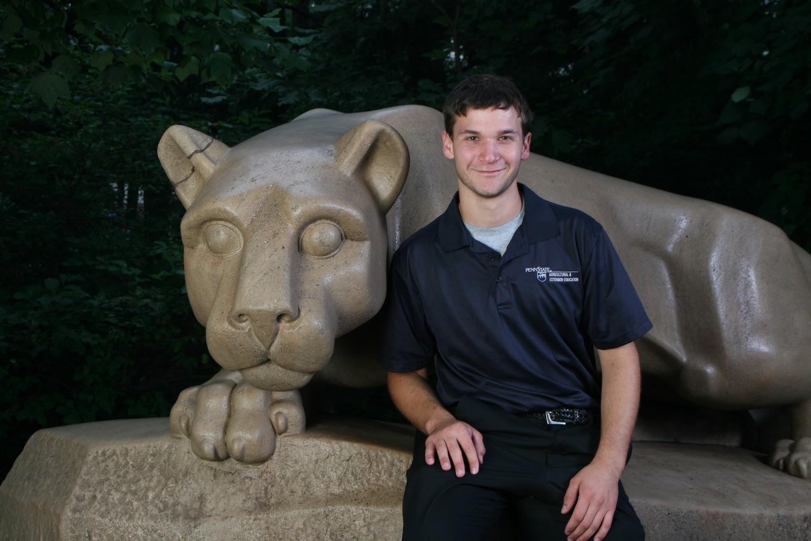 penn state ag ed roars walker 2013 student teacher selected as josh walker