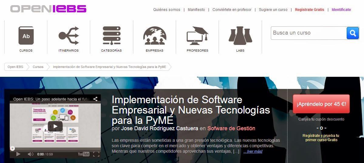 Curso On Line de Implementación de Software Empresarial y Nuevas Tecnologías para la PyME
