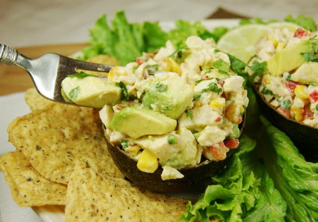 Roasted Corn & Avocado Chicken Salad - The Kitchen is My Playground