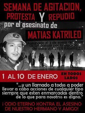 SEMANA DE AGITACIÓN, PROTESTA Y REPUDIO, POR EL ASESINATO DE MATIAS CATRILEO