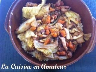La cuisine en amateur de maryline semoule chou vert for Cuisine 0 gachis