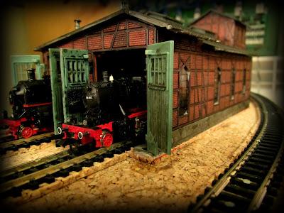 taller de locomotoras maqueta