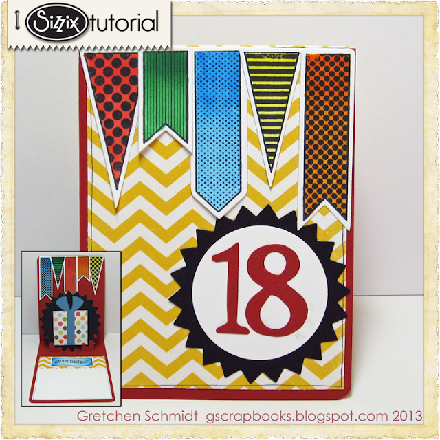Sizzix Die Cutting Tutorial: Gretchen Schmidt &quot;18&quot; Pop 'n Cuts Card