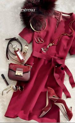 look de moda color marsala 2015