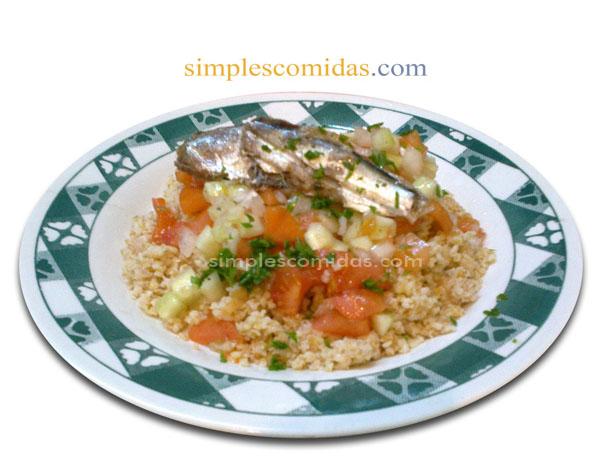 sardinas enlatadas con trigo burgol