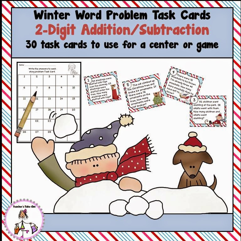 Winter Word Problem Task Cards