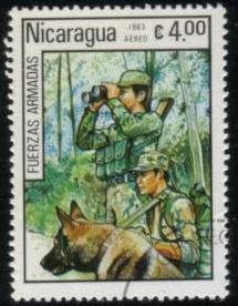 1983年ニカラグア共和国 ジャーマン・シェパードの切手