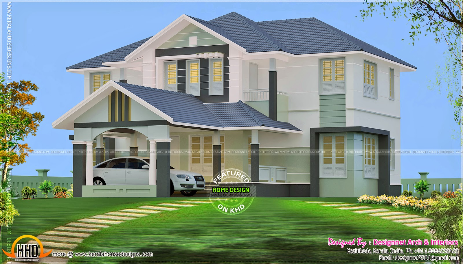 2610 Square Feet House With 4 Bedrooms Kerala Home