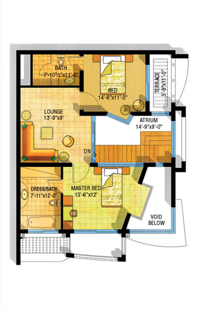 3d front safri villas bahria homes front for House map 3d