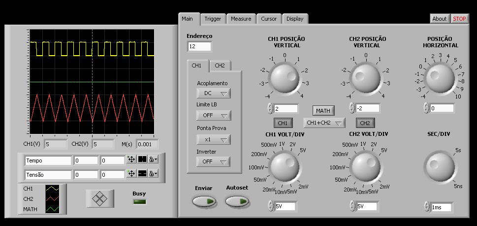 The Fragmentation Paradox Tds210 Oscilloscope On Labview