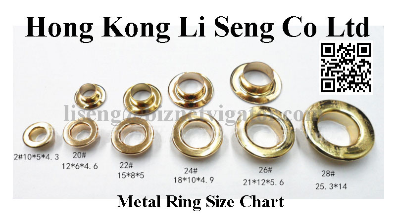 Metal Ring Size Chart