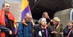 Acto de homenaje del Partido Comunista Francés a los Brigadistas Internacionales